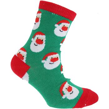 Accessoires Kinderen Sokken Floso  Groene kerstman