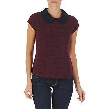 Textiel Dames Truien Manoush TOP CROCHET CŒUR Bordeaux