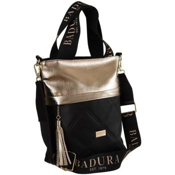 Tassen Dames Handtassen kort hengsel Badura 119470 Noir, Doré