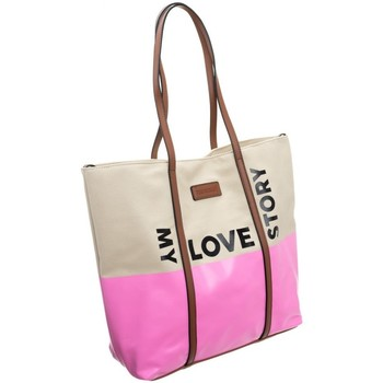 Tassen Dames Handtassen kort hengsel Monnari 67960 Beige, Rose