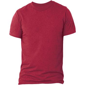 Textiel Heren T-shirts korte mouwen Bella + Canvas CA3413 Effen Rood Triblend