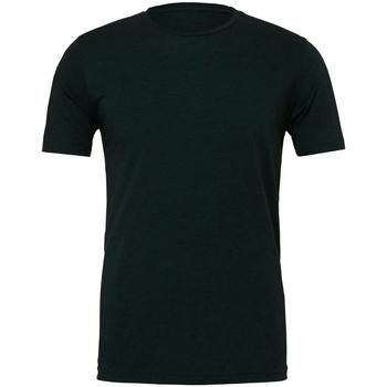 Textiel Heren T-shirts korte mouwen Bella + Canvas CA3413 Smaragdgroene Triblend
