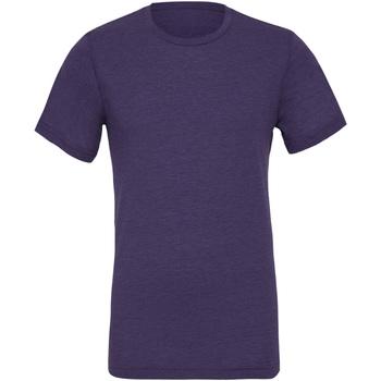 Textiel Heren T-shirts korte mouwen Bella + Canvas CA3413 Paarse Triblend