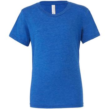 Textiel Heren T-shirts korte mouwen Bella + Canvas CA3413 Echte Koninklijke Triblend