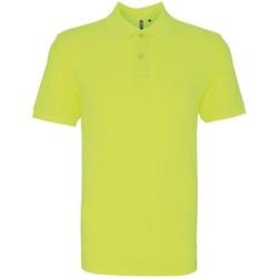 Textiel Heren Polo's korte mouwen Asquith & Fox AQ010 Neon geel