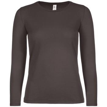 Textiel Dames T-shirts met lange mouwen B And C TW06T Beer Bruin