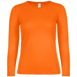 Textiel Dames T-shirts met lange mouwen B And C TW06T Oranje