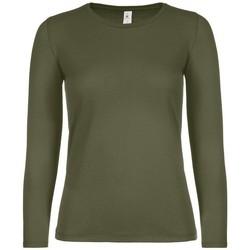 Textiel Dames T-shirts met lange mouwen B And C TW06T Stedelijke Khaki