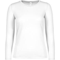 Textiel Dames T-shirts met lange mouwen B And C TW06T Wit