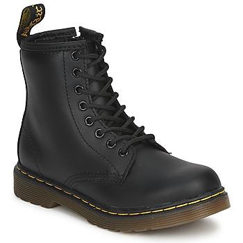 Schoenen Kinderen Laarzen Dr Martens DM J BOOT Zwart