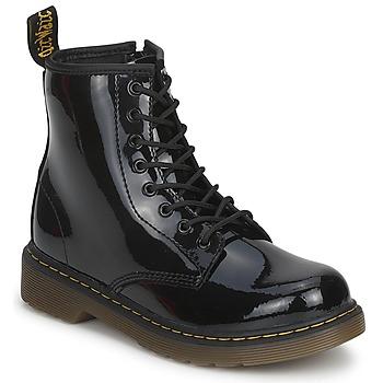 Schoenen Kinderen Laarzen Dr Martens DELANEY Zwart