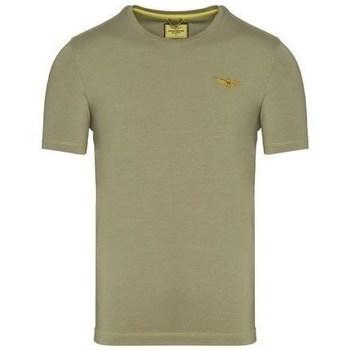 Textiel Heren T-shirts korte mouwen Aeronautica Militare TS1819 Olive