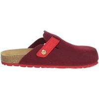 Schoenen Dames Leren slippers Grunland CB0683-40 Red