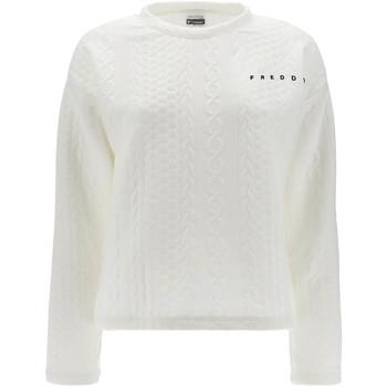 Textiel Dames Sweaters / Sweatshirts Freddy F1WSLS11 Wit