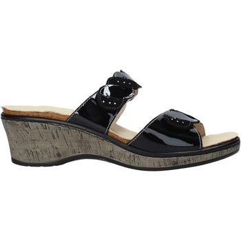 Schoenen Dames Leren slippers Susimoda 1611 Zwart