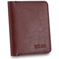Tassen Heren Portefeuilles Solier SW15BROWNMAROON23257 Bordeaux