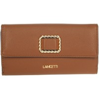 Tassen Dames Portefeuilles Lancetti LW0034L07 Brown leather