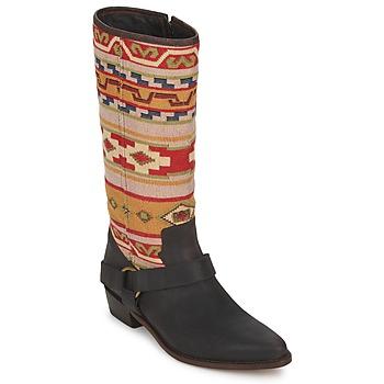 Schoenen Dames Hoge laarzen Sancho Boots CROSTA TIBUR GAVA Bruin-rood