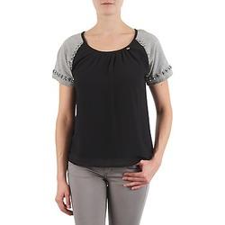 Textiel Dames T-shirts korte mouwen Lollipops PADELINE TOP Zwart / Grijs