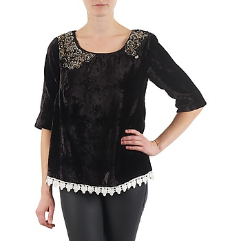 Textiel Dames T-shirts met lange mouwen Lollipops PILOW TOP Zwart