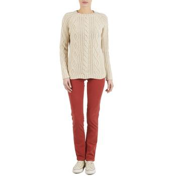Textiel Dames 5 zakken broeken Kulte PANTALON PLANCHER 101819 ROUGE Rouille