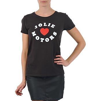 Textiel Dames T-shirts korte mouwen Kulte LOUISA JOLIEMOTOR 101954 NOIR Zwart