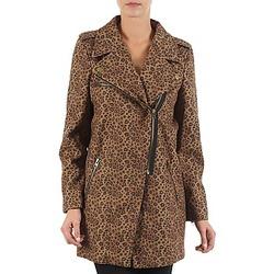 Textiel Dames Mantel jassen Brigitte Bardot BB43110 Brown / Leopard