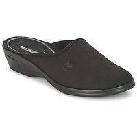 Schoenen Dames Leren slippers Romika REMO 122 Zwart