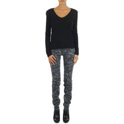 Textiel Dames Skinny jeans Gas TASCHE SUMATRA HIGH BLE BLACK Grijs
