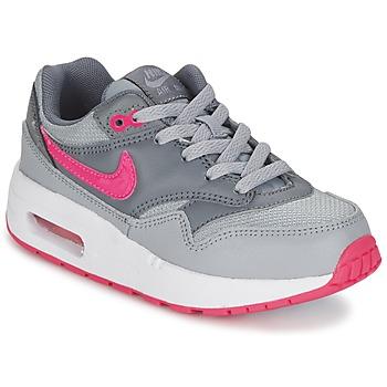 Schoenen Meisjes Lage sneakers Nike AIR MAX 1 CADET Grijs / Roze