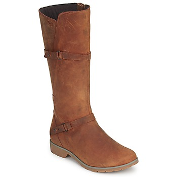 Schoenen Dames Hoge laarzen Teva DELAVINA LEATHER Brown