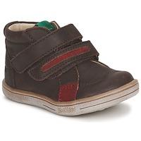 Schoenen Jongens Laarzen Kickers TAXI Brown / Rood