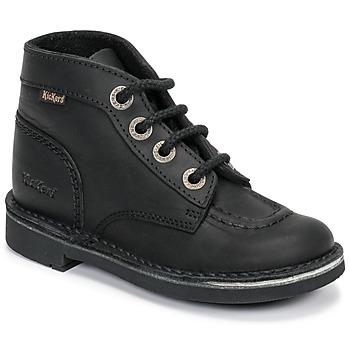 Schoenen Kinderen Laarzen Kickers KICK COL Zwart