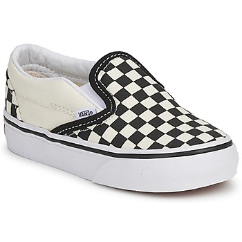Schoenen Kinderen Instappers Vans CLASSIC SLIP ON KIDS Zwart / Wit