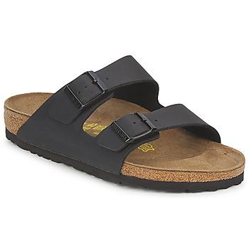 Schoenen Leren slippers Birkenstock MENS ARIZONA  zwart