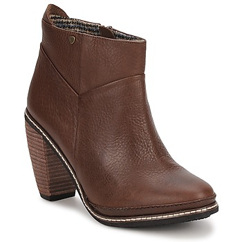 Schoenen Dames Enkellaarzen Feud LIGHT Brown