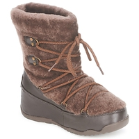 Schoenen Dames Snowboots FitFlop SUPERBLIZZ Chocolade