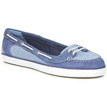 Schoenen Dames Bootschoenen Timberland EK DEERING BOAT BALLERINA Blauw