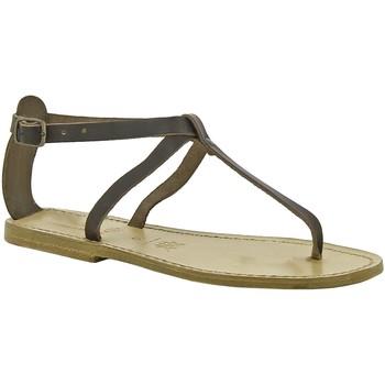 Schoenen Dames Sandalen / Open schoenen Gianluca - L'artigiano Del Cuoio 582 D MORO LGT-CUOIO Testa di Moro