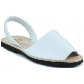 Schoenen Leren slippers Arantxa MENORQUINA LEDER WHITE