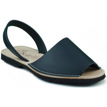 Schoenen Leren slippers Arantxa MENORQUINA LEDER MARINO