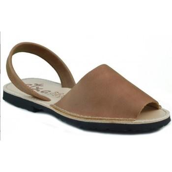Schoenen Leren slippers Arantxa MENORQUINA LEDER BROWN