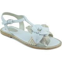 Schoenen Meisjes Sandalen / Open schoenen Oca Loca OCA LOCA ANTE RAFIA BLANCO