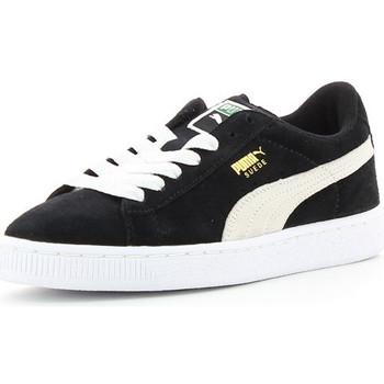 Schoenen Kinderen Lage sneakers Puma SUEDE JR Noir/Blanc