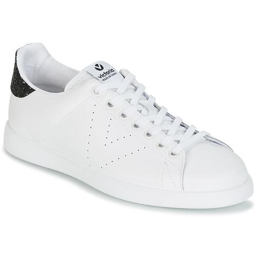 Schoenen Dames Lage sneakers Victoria DEPORTIVO BASKET PIEL Wit / Zwart