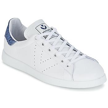 Schoenen Lage sneakers Victoria DEPORTIVO BASKET PIEL Wit / Blauw