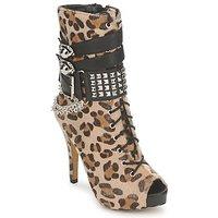 Schoenen Dames Enkellaarzen Abbey Dawn PLATFORM BOOTEE Leopard / Print