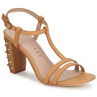 Schoenen Dames Sandalen / Open schoenen Lola Cruz STUDDED Beige / TAN