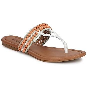 Schoenen Dames Sandalen / Open schoenen Lucky Brand DOLLIS Nude / Wit / Mint