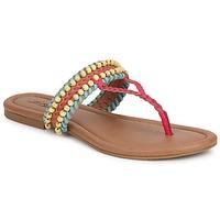 Schoenen Dames Sandalen / Open schoenen Lucky Brand DOLLIS Dark /  camel /  teaberry / Capri / Blauw